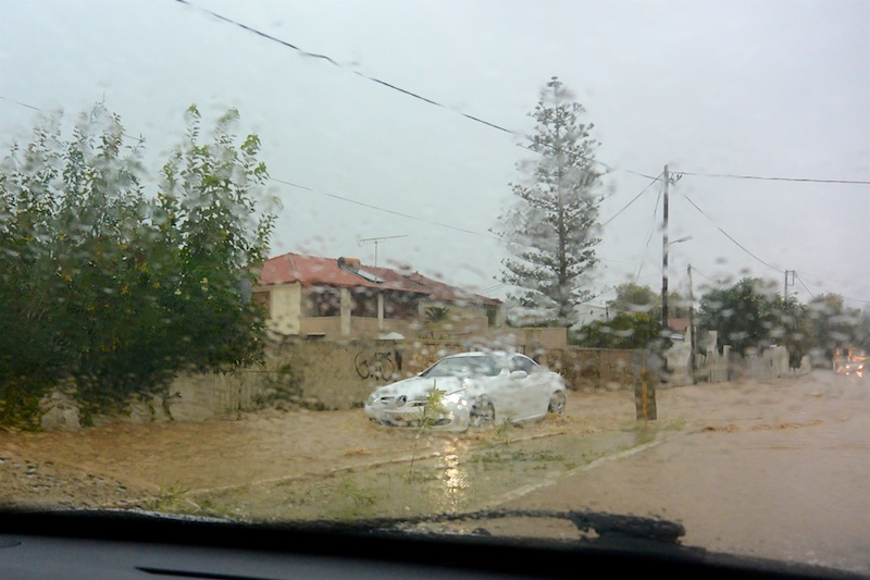 Unwetter in Chania